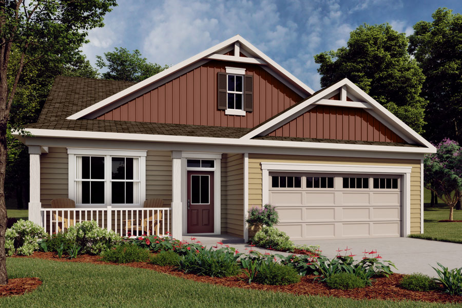 Evelyn Plan Elevation Front at Briar Gate in Fuquay-Varina North Carolina by Mattamy Homes