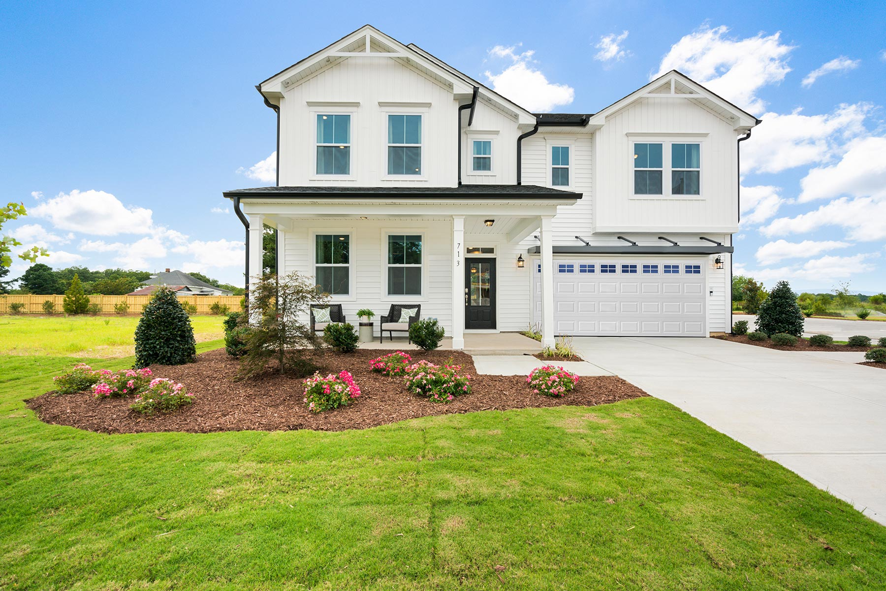 Gaines Plan Elevation Front at Briar Gate in Fuquay-Varina North Carolina by Mattamy Homes