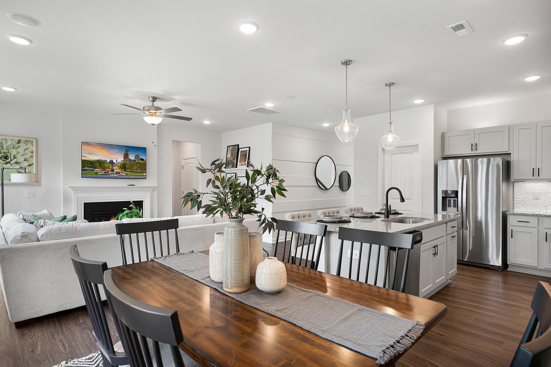 Gaines Plan Greatroom at Briar Gate in Fuquay-Varina North Carolina by Mattamy Homes