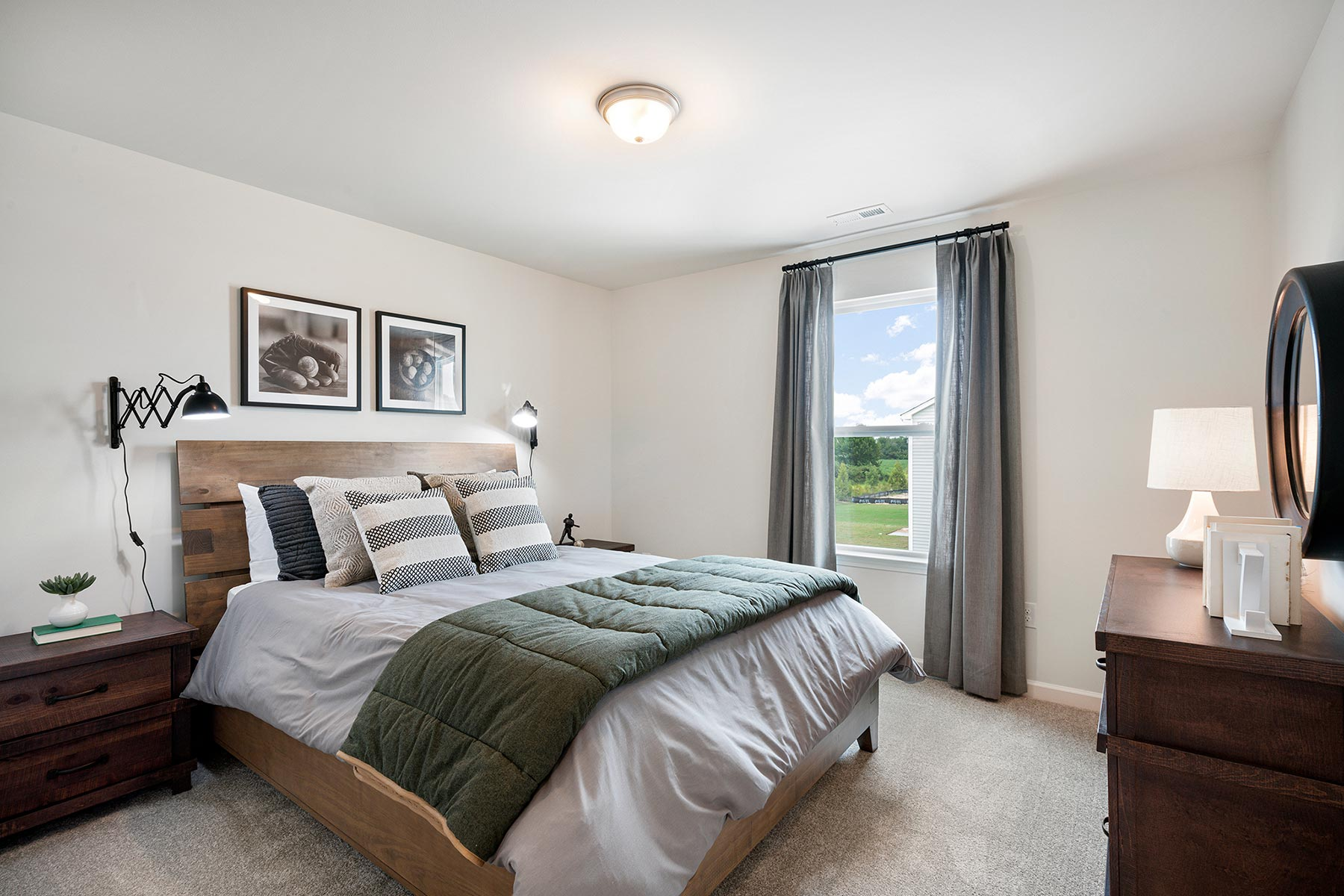 Gaines Plan Bedroom at Briar Gate in Fuquay-Varina North Carolina by Mattamy Homes