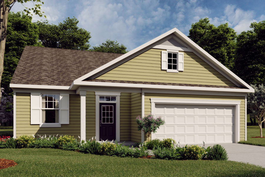 Harrison Plan Elevation Front at Briar Gate in Fuquay-Varina North Carolina by Mattamy Homes