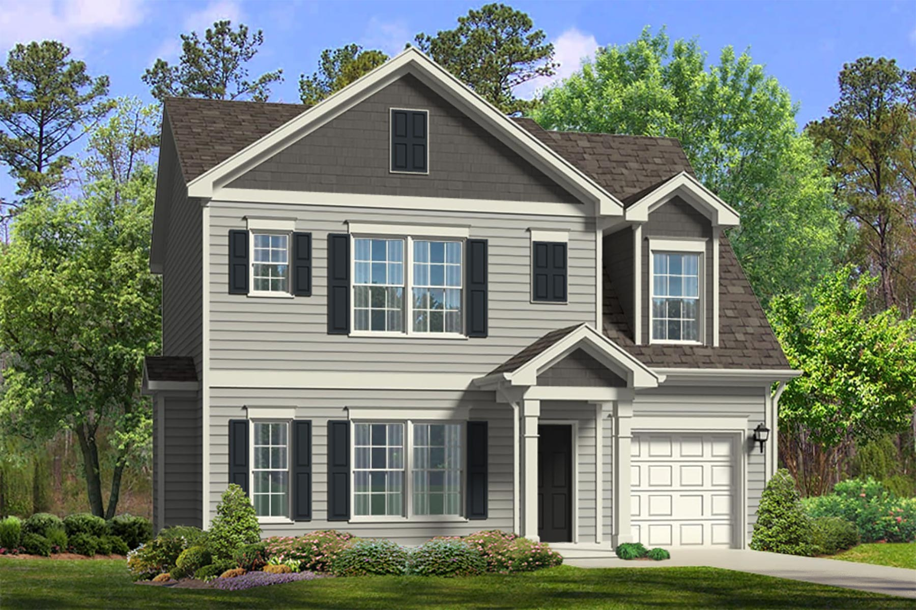 Beech Plan Elevation Front at Bristol in Clayton North Carolina by Mattamy Homes