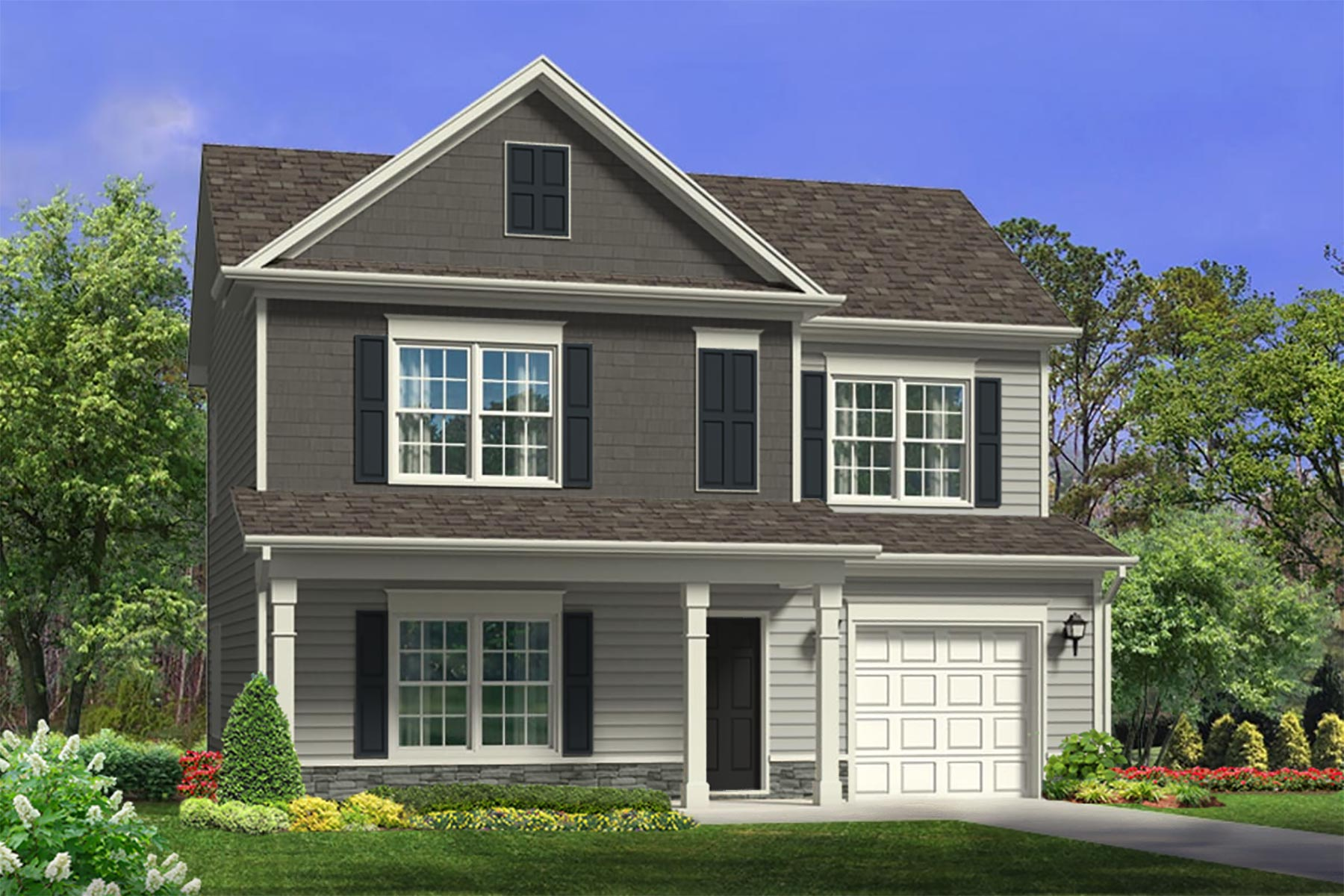 Franklin Plan Elevation Front at Bristol in Clayton North Carolina by Mattamy Homes