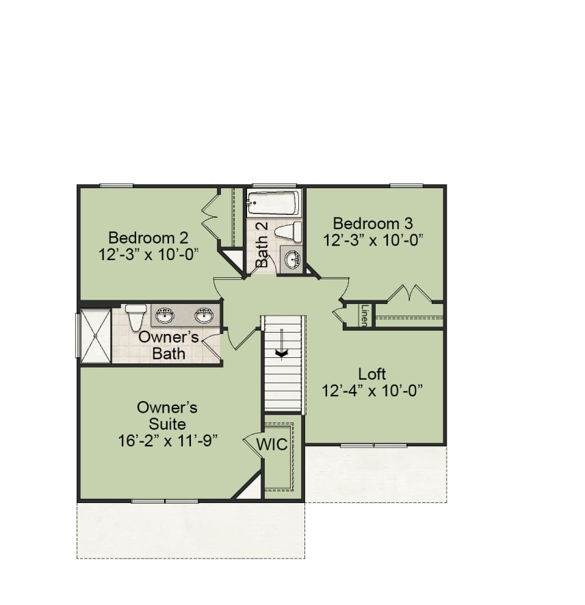 Franklin Plan Floor Plan at Bristol in Clayton North Carolina by Mattamy Homes