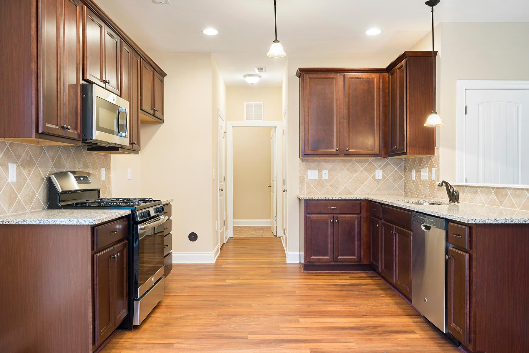 Franklin Plan Kitchen at Bristol in Clayton North Carolina by Mattamy Homes