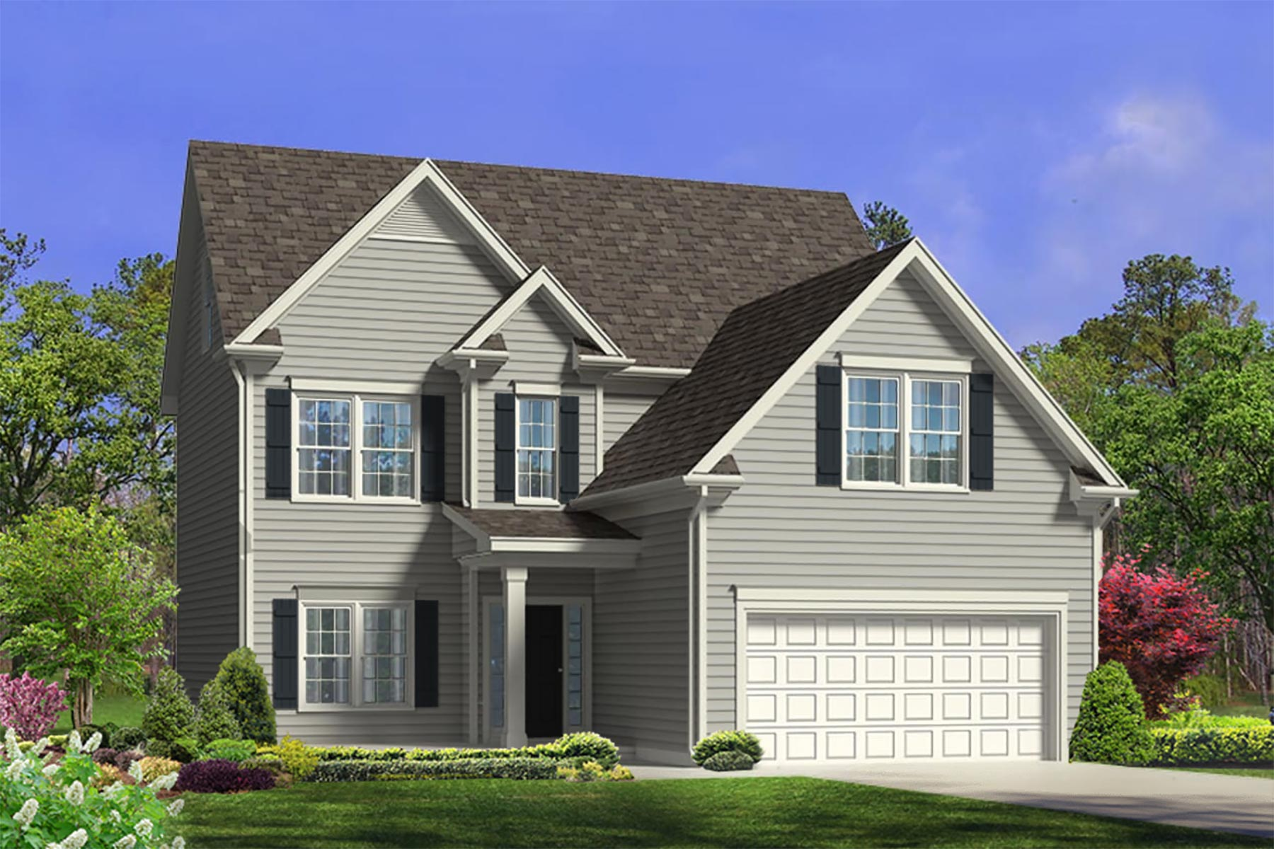 Sampson Plan Elevation Front at Bristol in Clayton North Carolina by Mattamy Homes