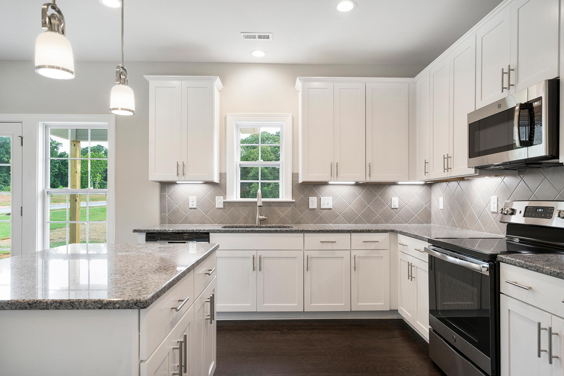 Sampson Plan Kitchen at Bristol in Clayton North Carolina by Mattamy Homes