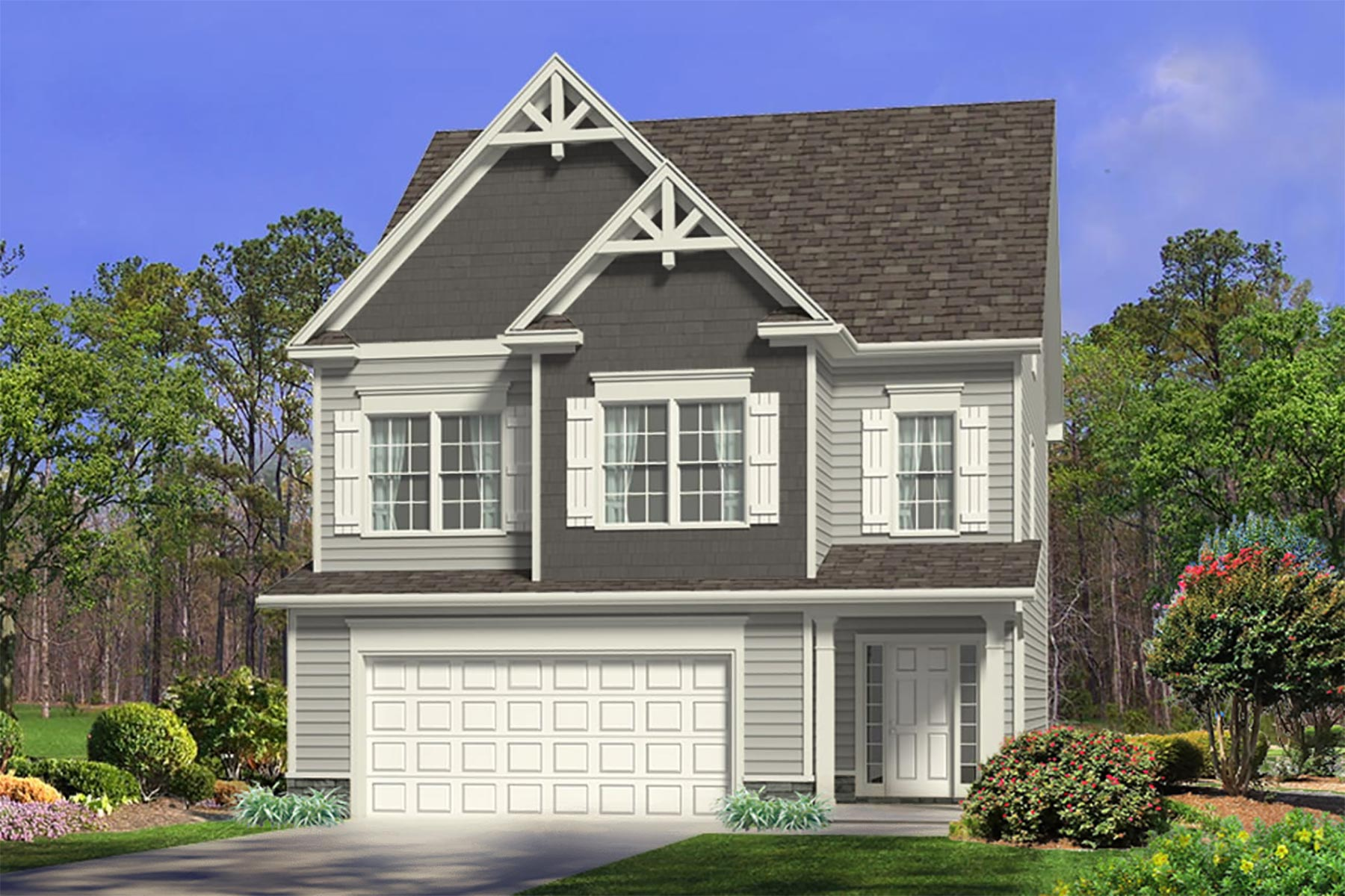 Wilmington Plan Elevation Front at Bristol in Clayton North Carolina by Mattamy Homes