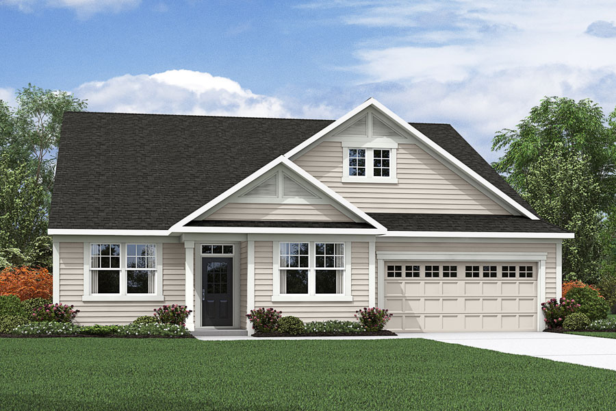 Abbott Plan Elevation Front at Fairview Park in Cary North Carolina by Mattamy Homes