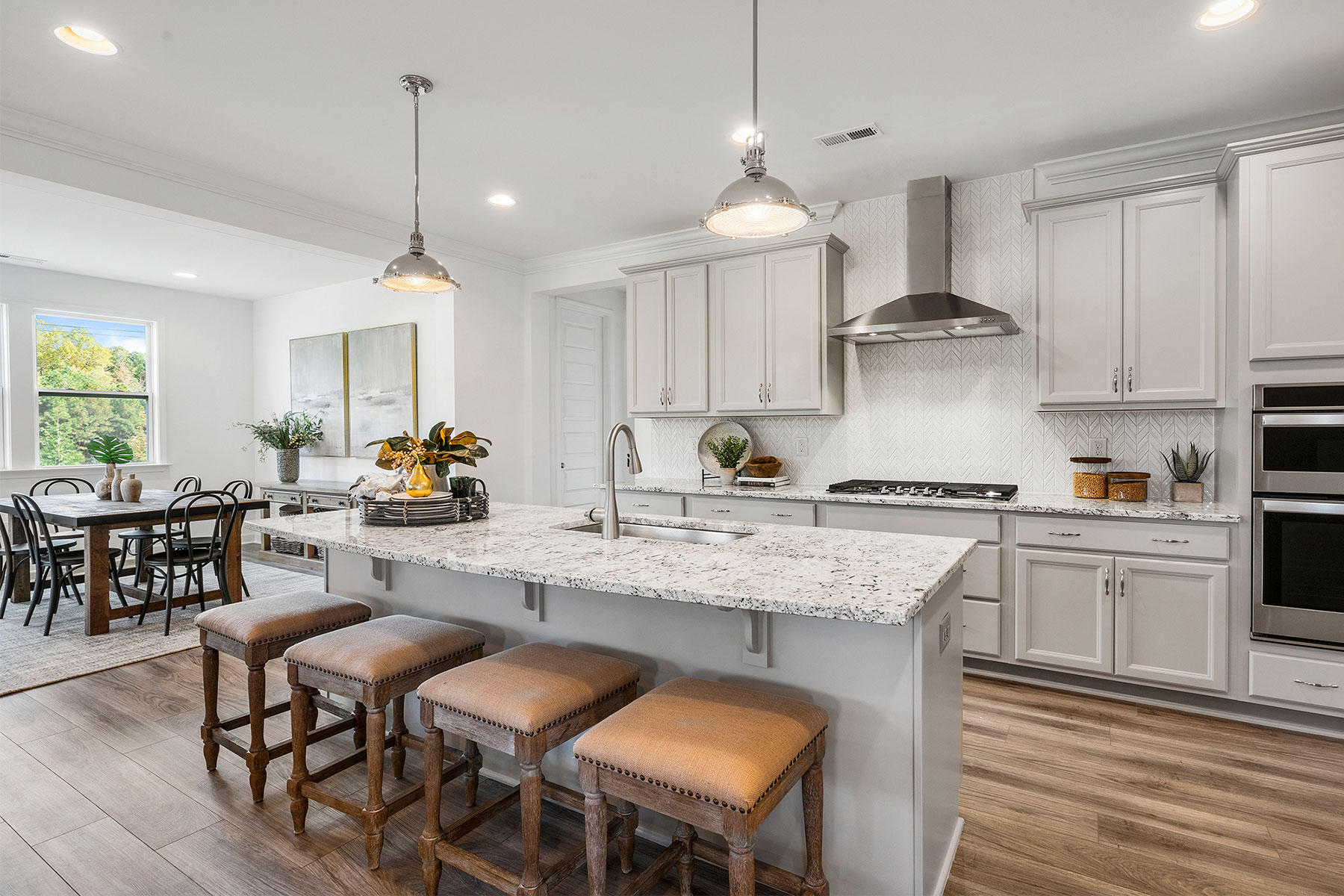 Abbott Plan Kitchen at Fairview Park in Cary North Carolina by Mattamy Homes