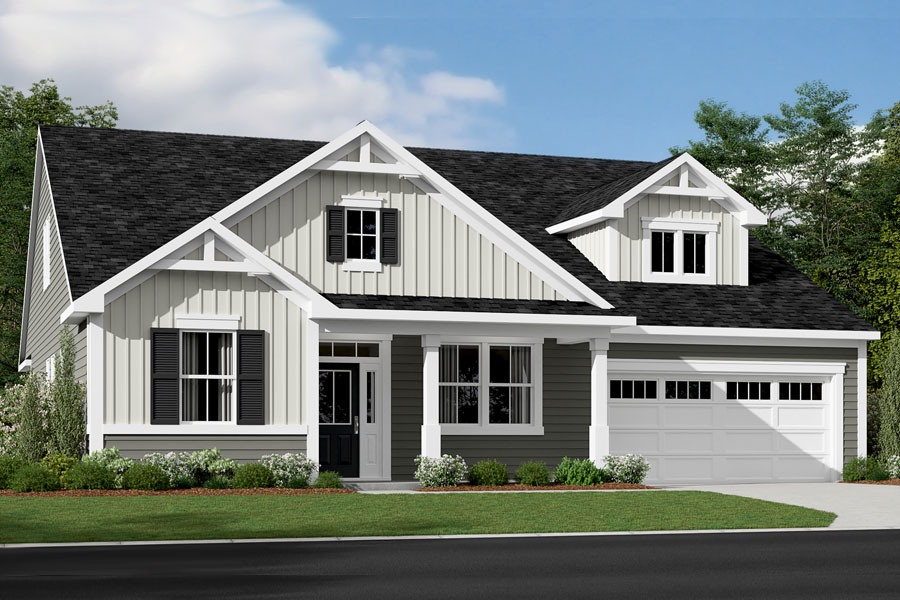 Costello Plan Elevation Front at Fairview Park in Cary North Carolina by Mattamy Homes