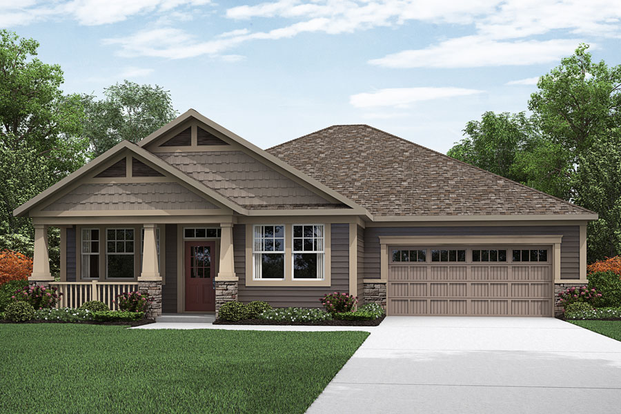 Ethan II Plan Elevation Front at Fairview Park in Cary North Carolina by Mattamy Homes