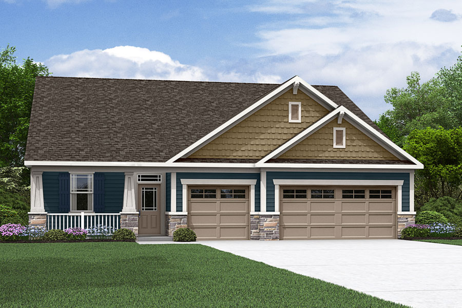 Hamilton Plan Elevation Front at Fairview Park in Cary North Carolina by Mattamy Homes