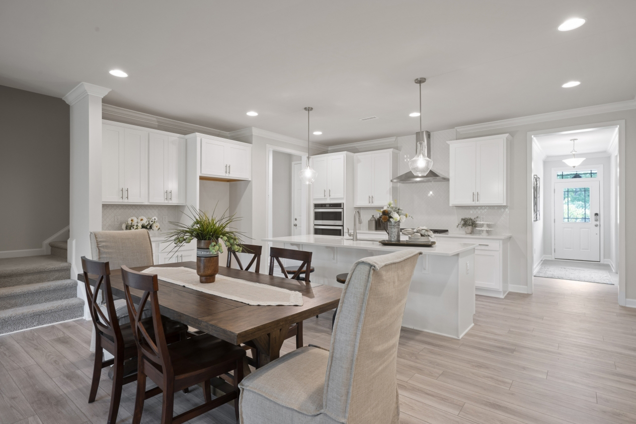 Hamilton Plan Greatroom at Fairview Park in Cary North Carolina by Mattamy Homes
