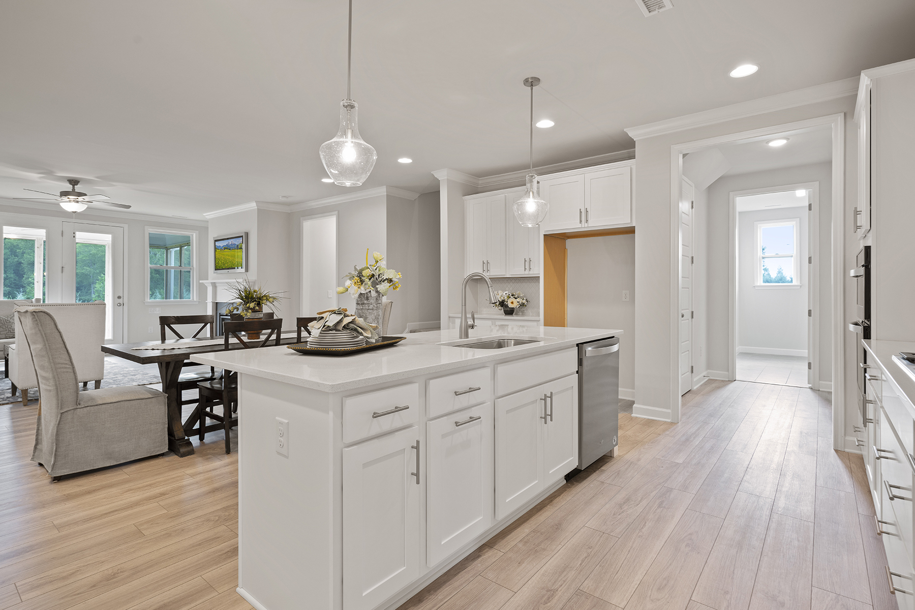 Hamilton Plan Kitchen at Fairview Park in Cary North Carolina by Mattamy Homes