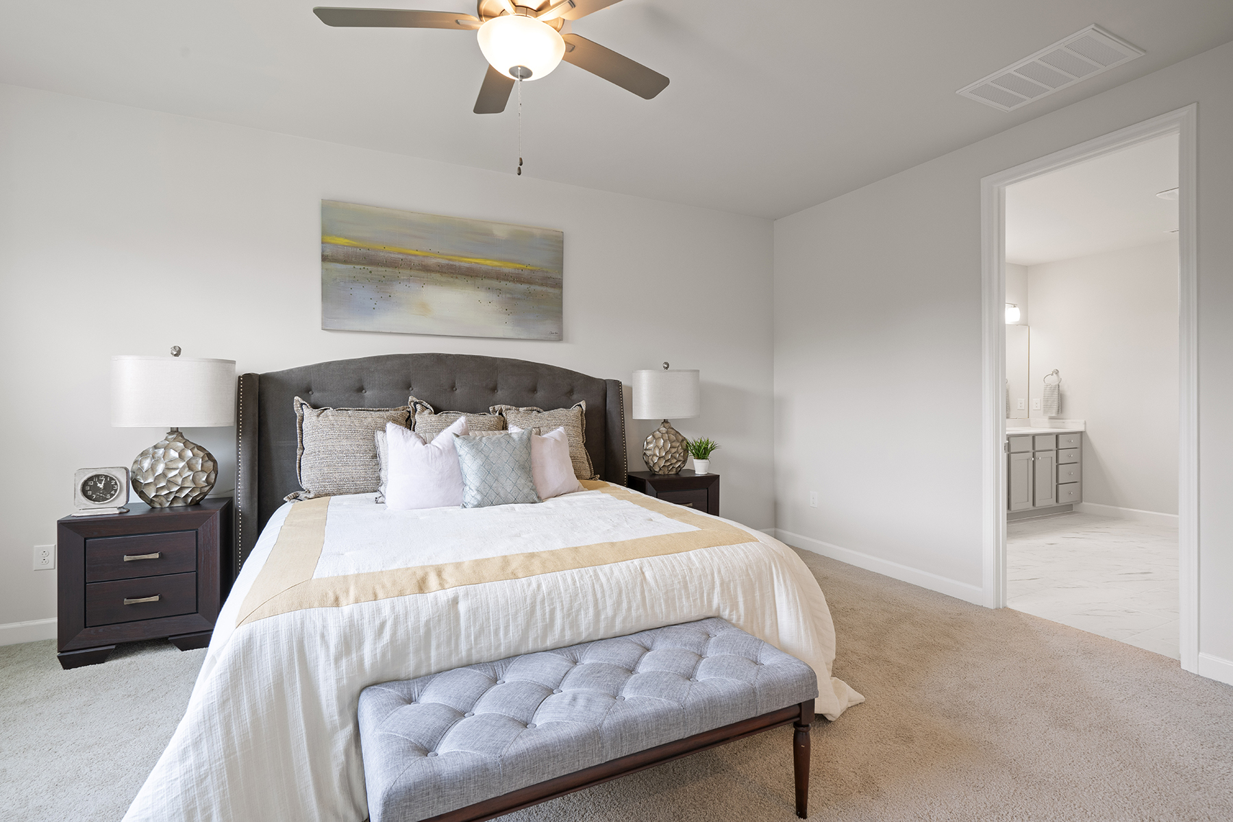 Hamilton Plan Bedroom at Fairview Park in Cary North Carolina by Mattamy Homes