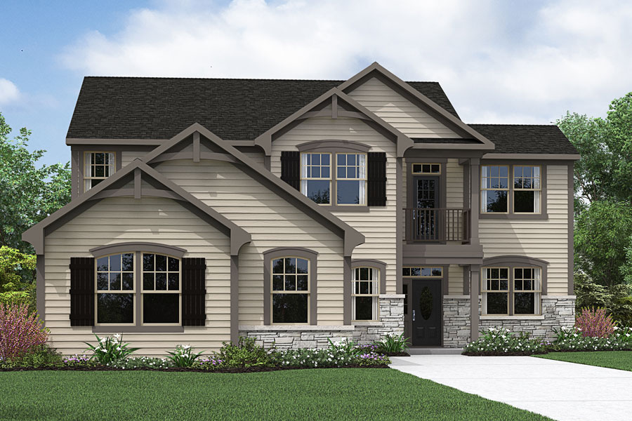 Kendrick Plan Elevation Front at Fairview Park in Cary North Carolina by Mattamy Homes