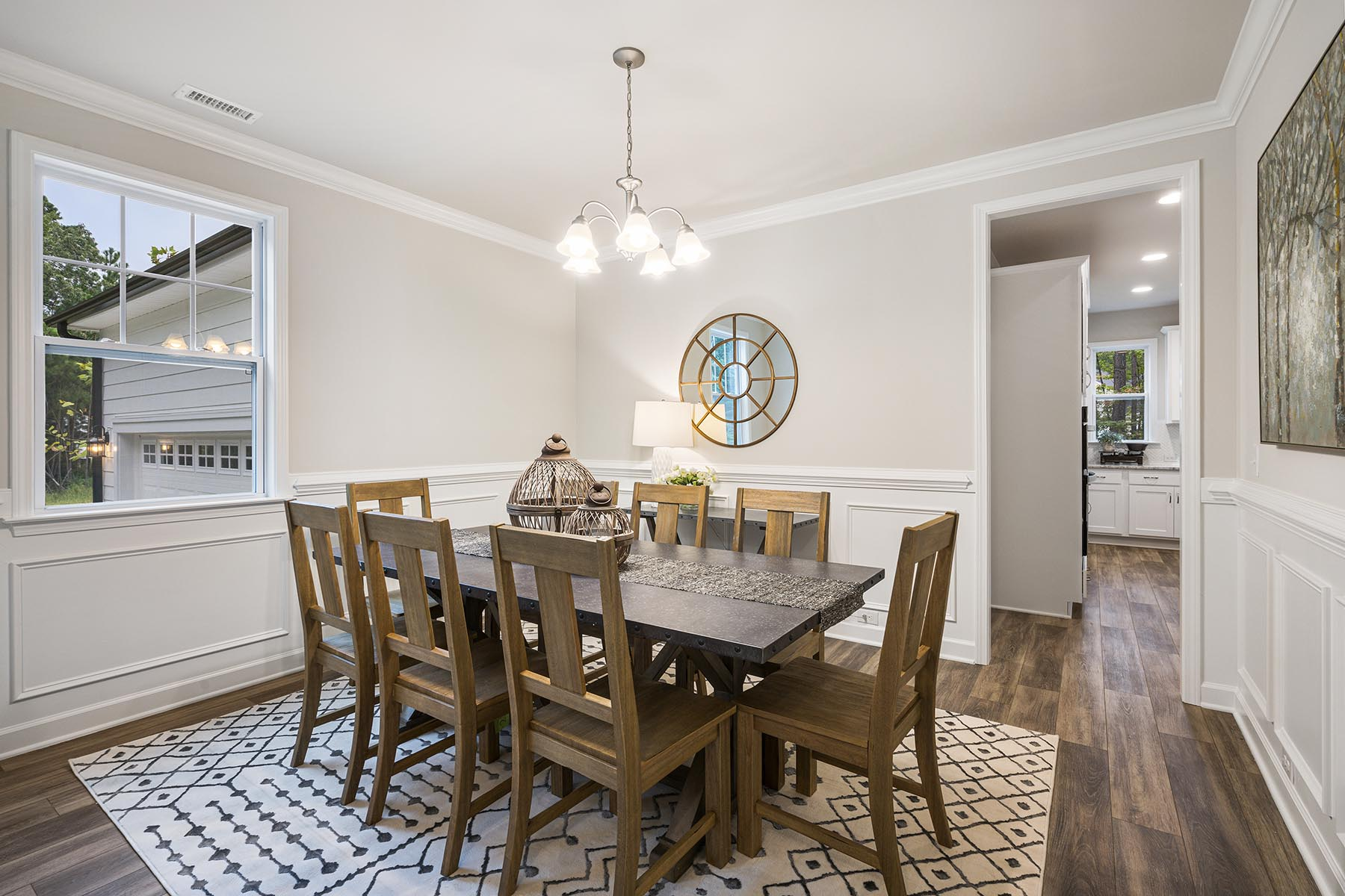 Kendrick Plan Dining at Fairview Park in Cary North Carolina by Mattamy Homes