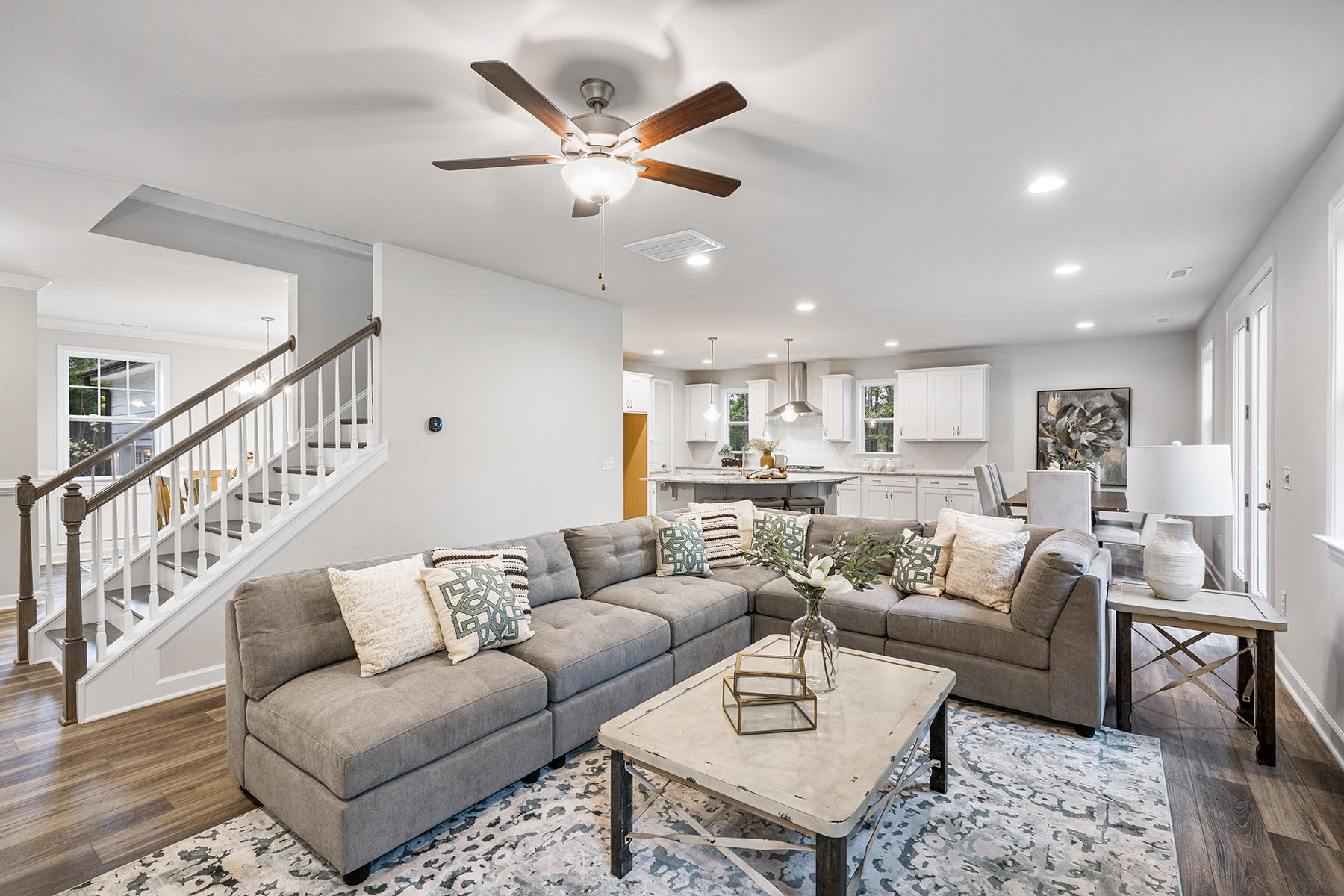 Kendrick Plan Greatroom at Fairview Park in Cary North Carolina by Mattamy Homes