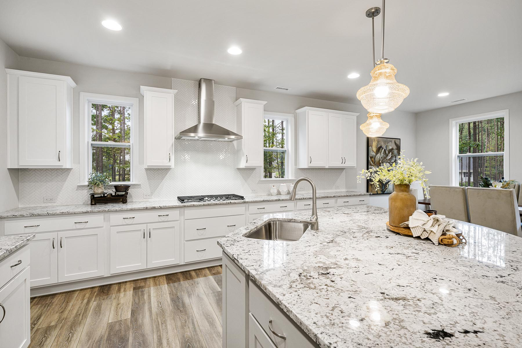 Kendrick Plan Kitchen at Fairview Park in Cary North Carolina by Mattamy Homes
