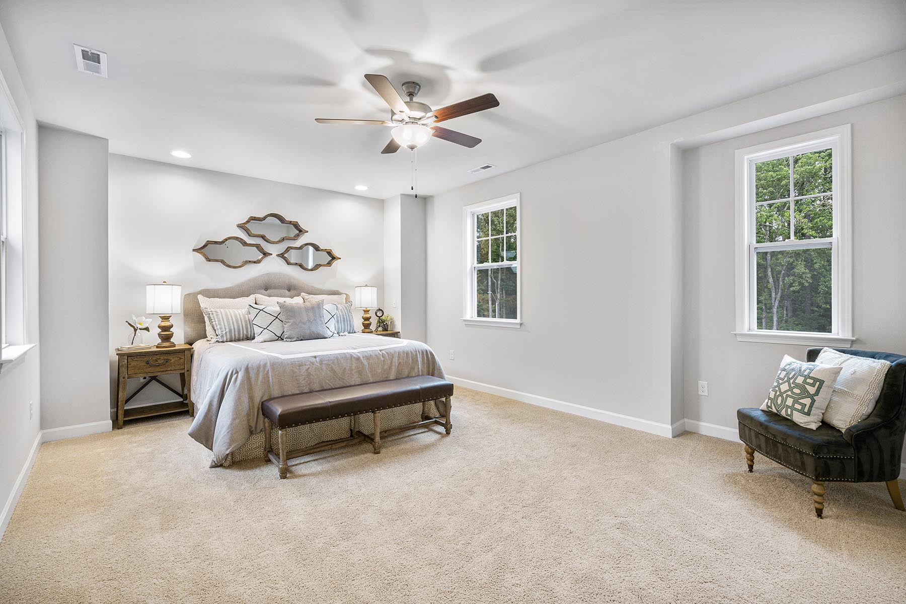 Kendrick Plan Bedroom at Fairview Park in Cary North Carolina by Mattamy Homes