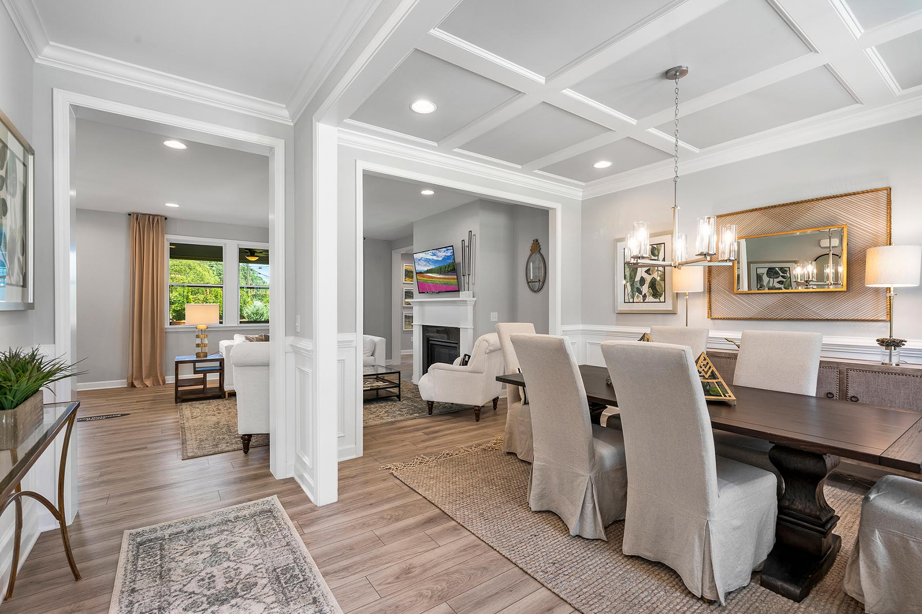 Larkin Plan Dining at Fairview Park in Cary North Carolina by Mattamy Homes
