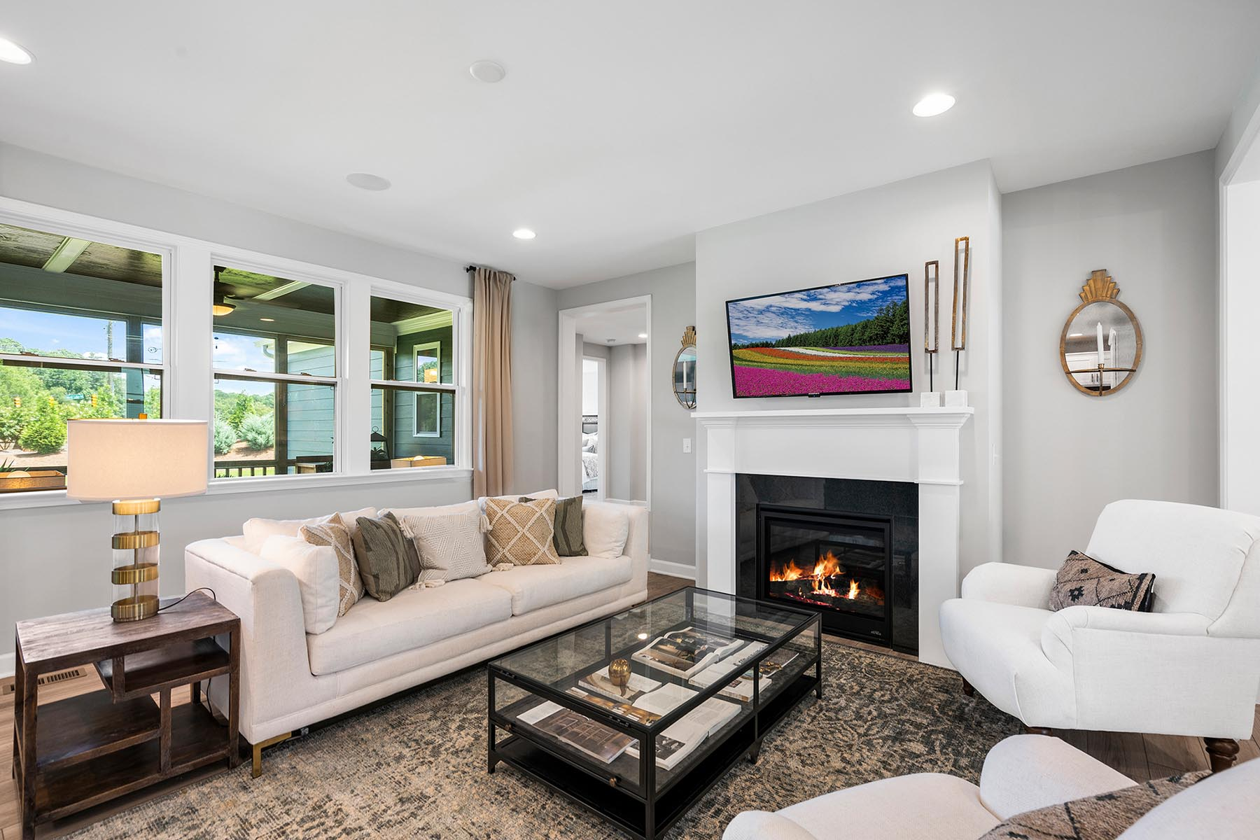 Larkin Plan Greatroom at Fairview Park in Cary North Carolina by Mattamy Homes