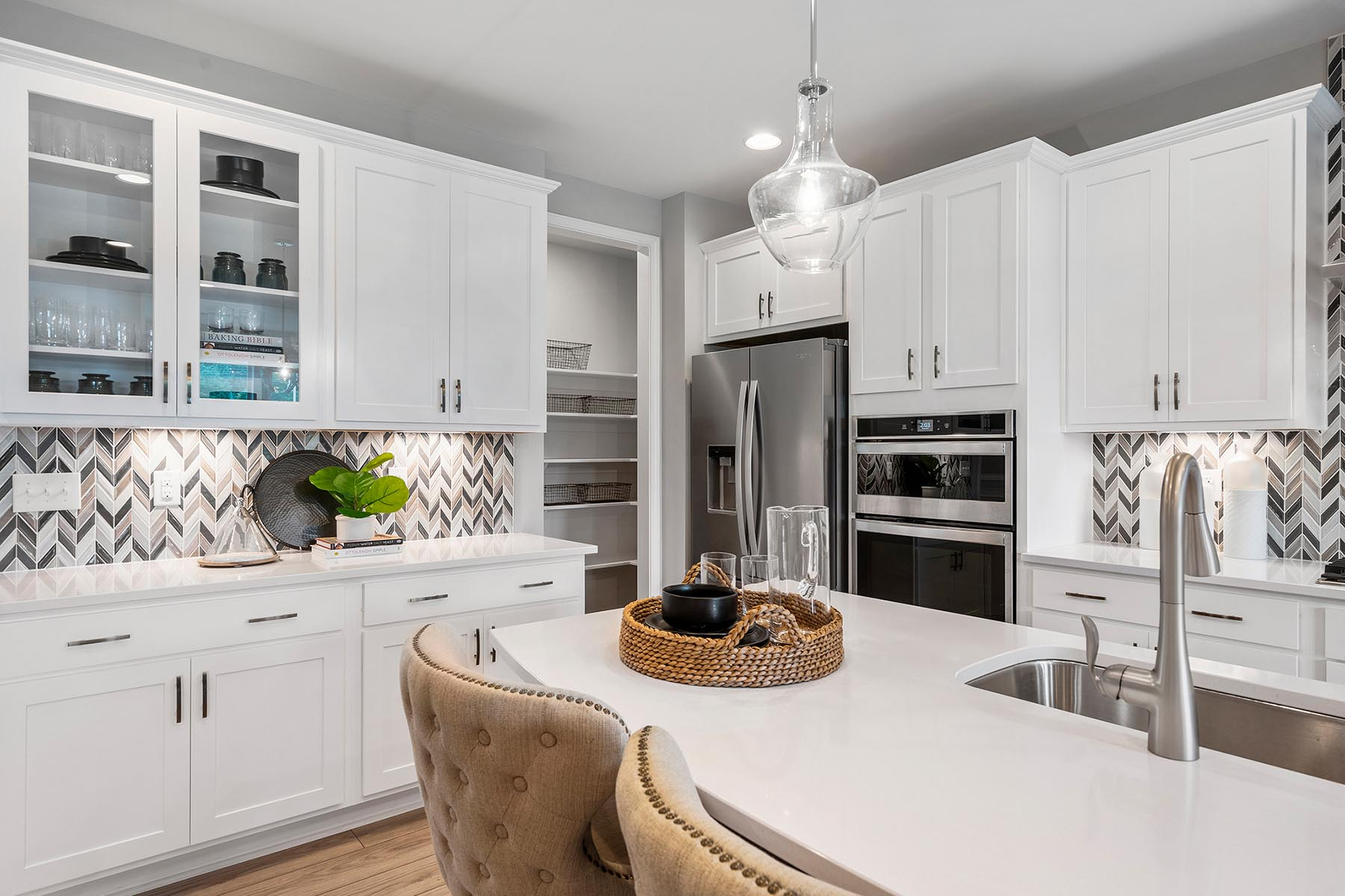 Larkin Plan Kitchen at Fairview Park in Cary North Carolina by Mattamy Homes