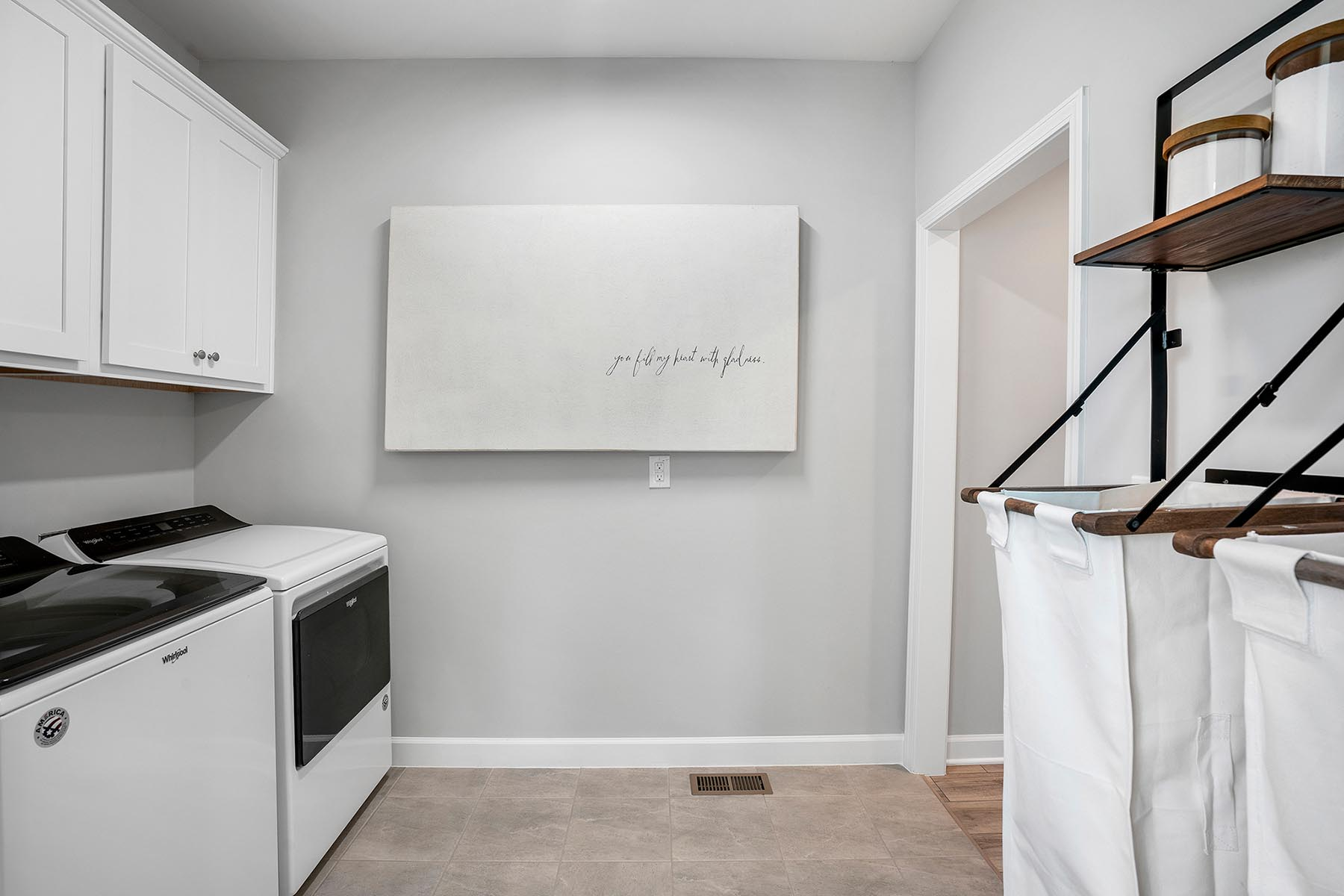 Larkin Plan Laundry at Fairview Park in Cary North Carolina by Mattamy Homes