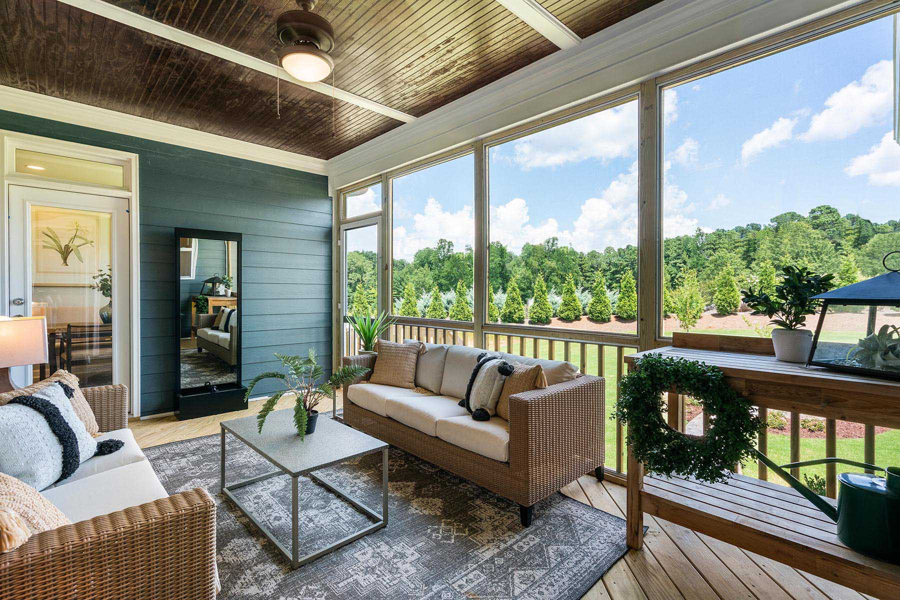 Larkin Plan Patio at Fairview Park in Cary North Carolina by Mattamy Homes