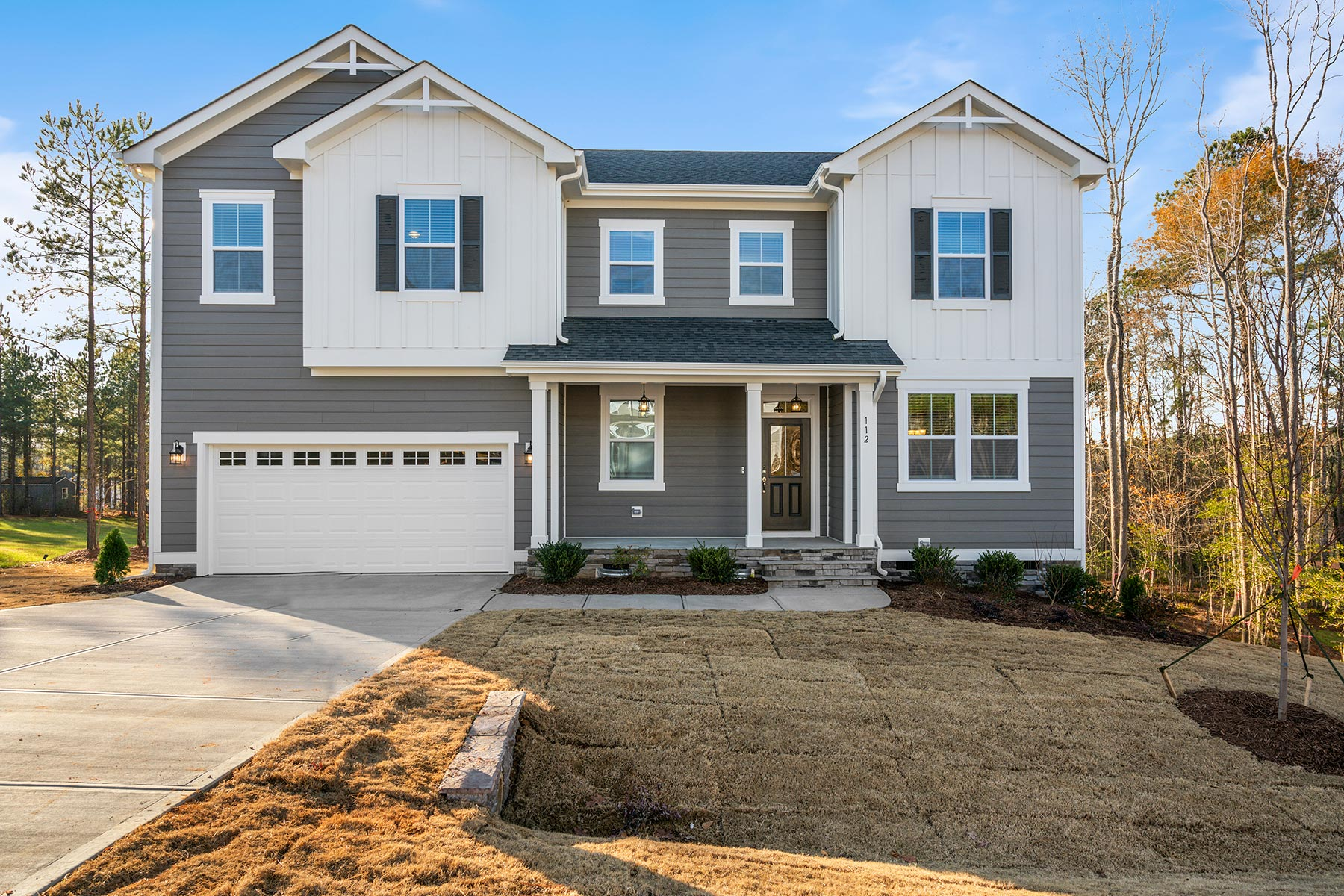 Marshall Plan Elevation Front at Fairview Park in Cary North Carolina by Mattamy Homes