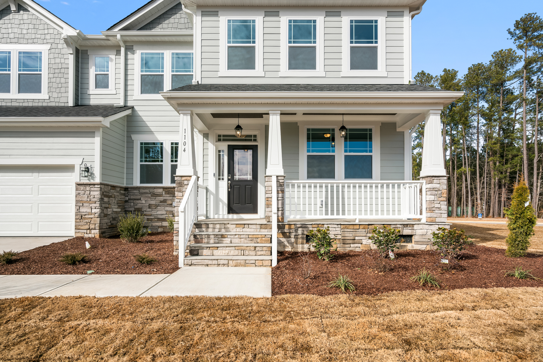 Mitchell Plan Front Porch at Fairview Park in Cary North Carolina by Mattamy Homes