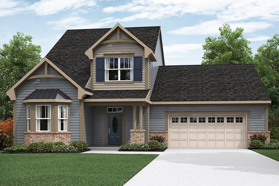 Paige Plan Elevation Front at Fairview Park in Cary North Carolina by Mattamy Homes