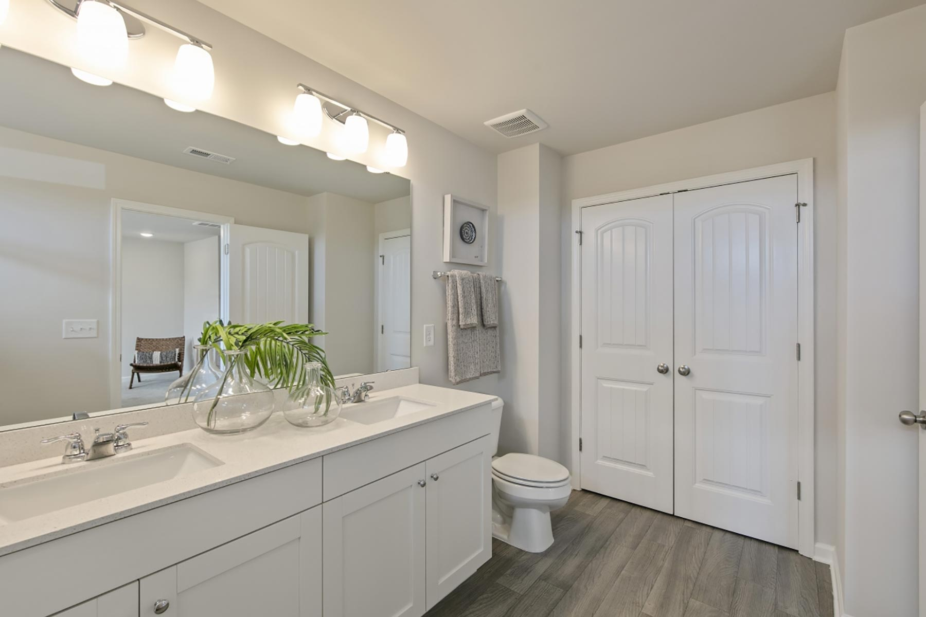 Claymore Plan Bathroom_Master Bath at Minglewood Townhomes in Garner North Carolina by Mattamy Homes