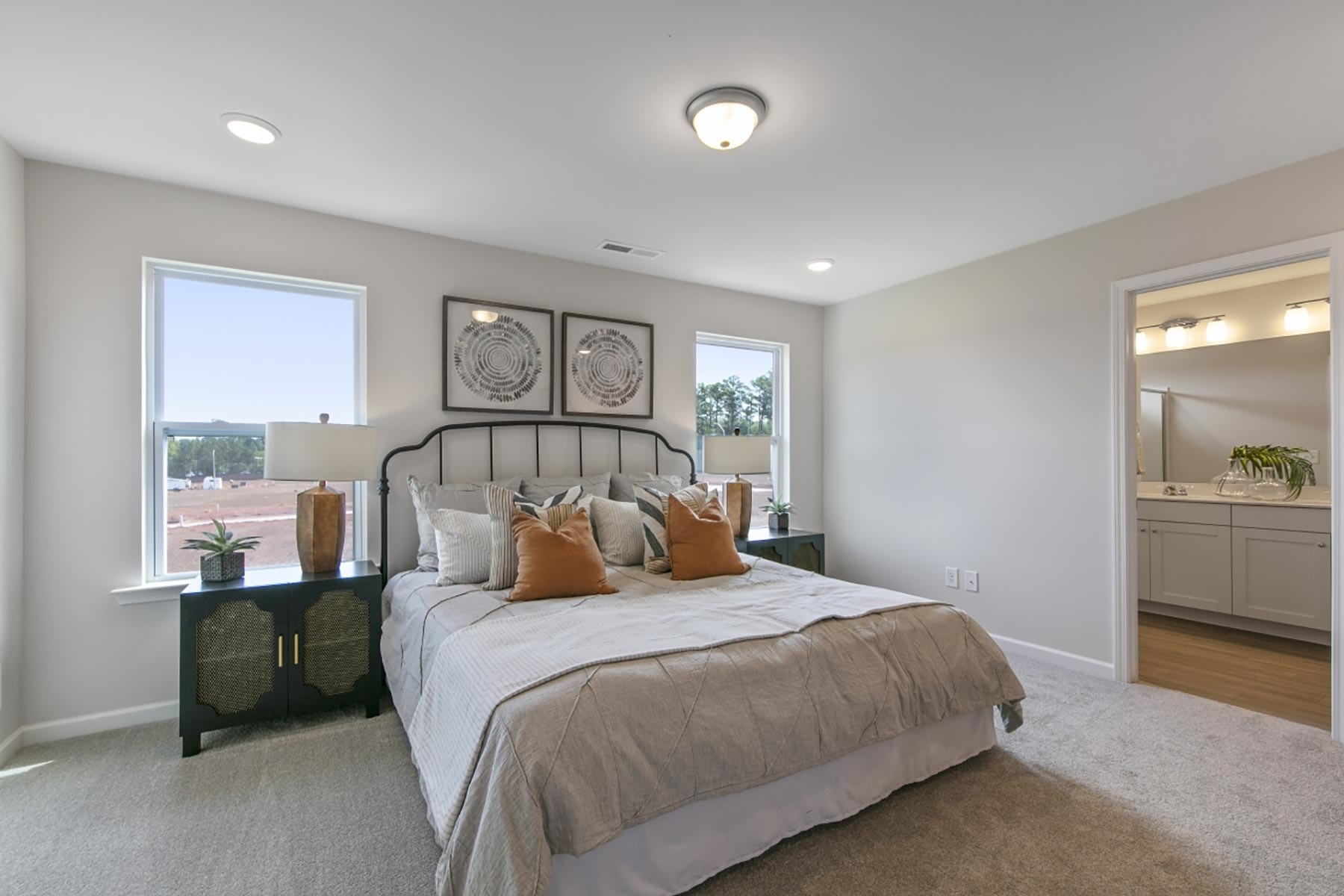 Claymore Plan Bedroom at Minglewood Townhomes in Garner North Carolina by Mattamy Homes