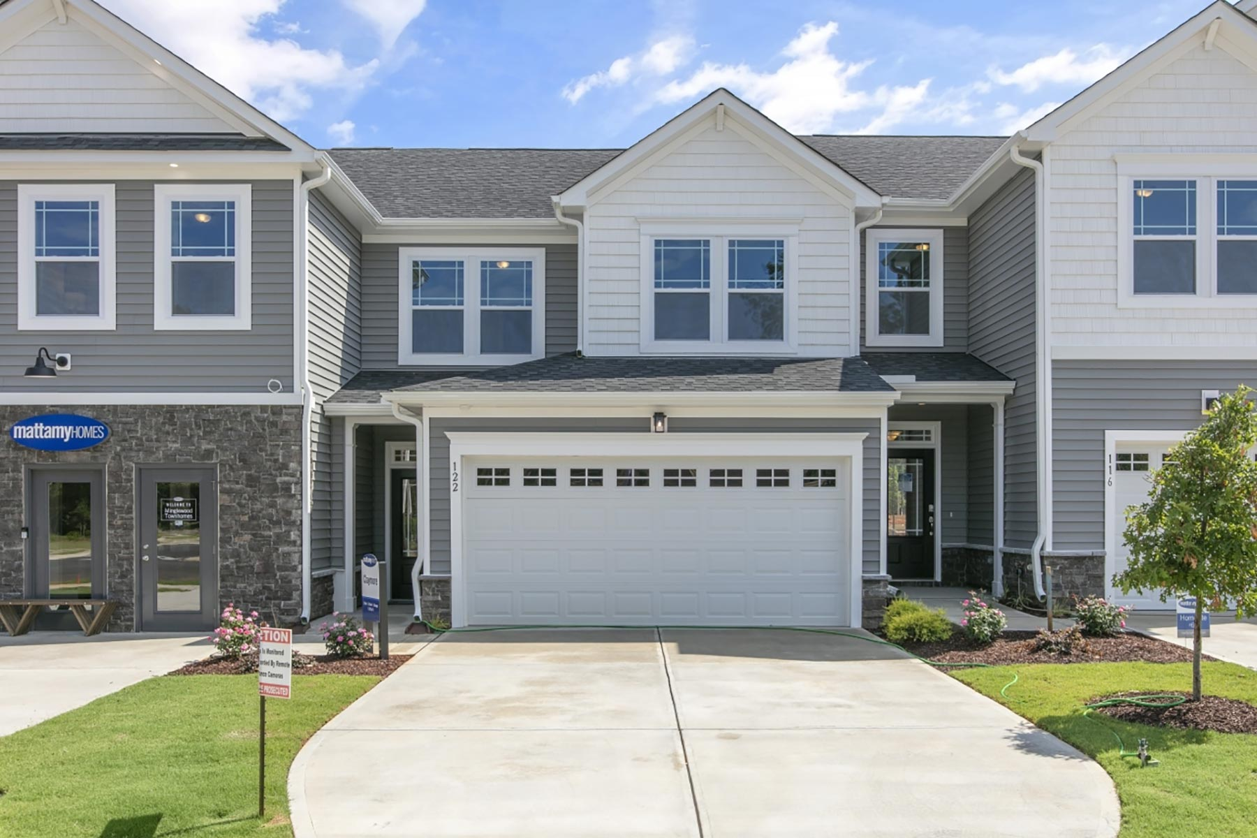Claymore Plan TownHomes at Minglewood Townhomes in Garner North Carolina by Mattamy Homes