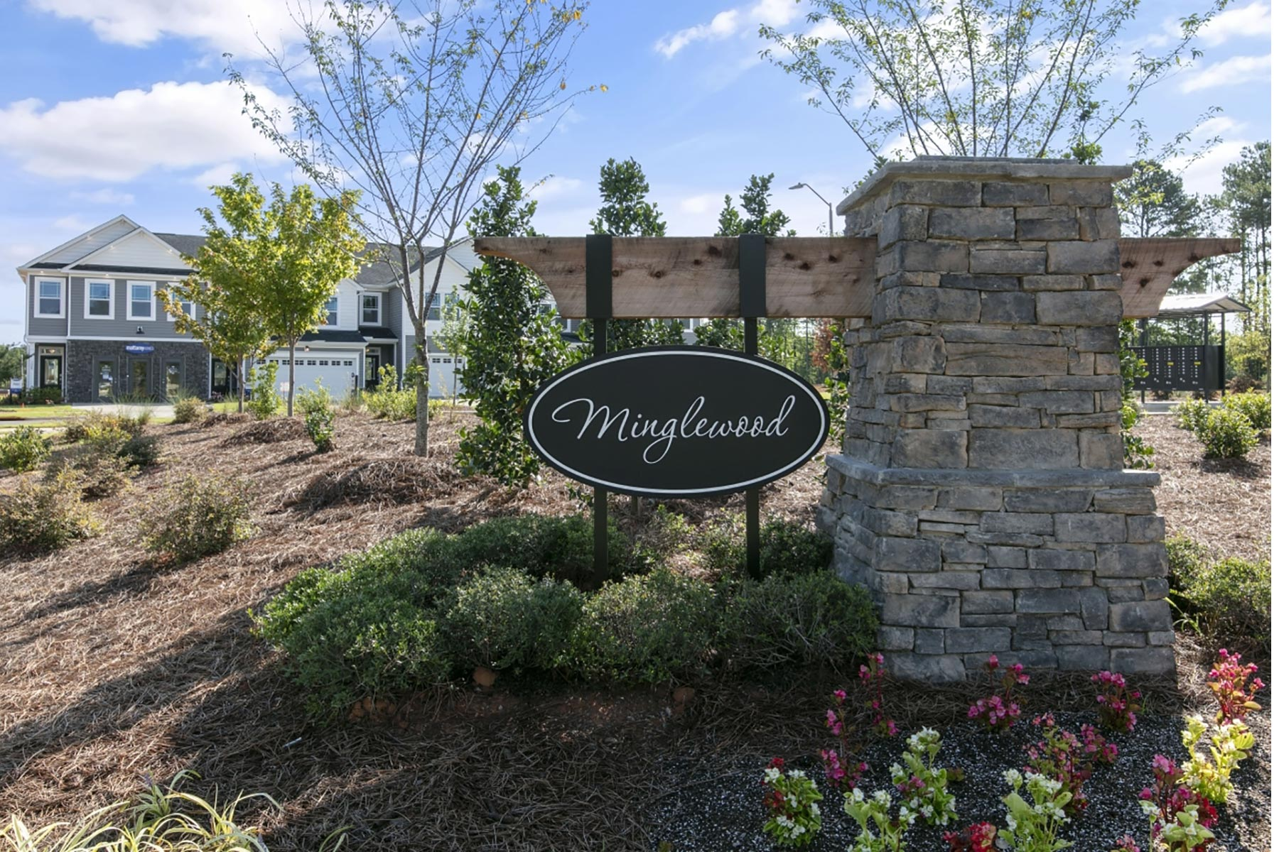 Minglewood Townhomes Monument in Garner North Carolina by Mattamy Homes