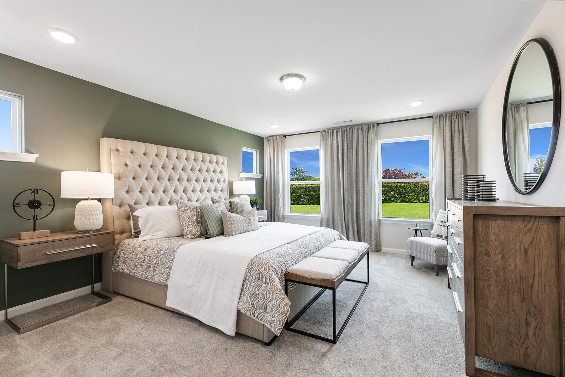 Minglewood Townhomes Bedroom in Garner North Carolina by Mattamy Homes