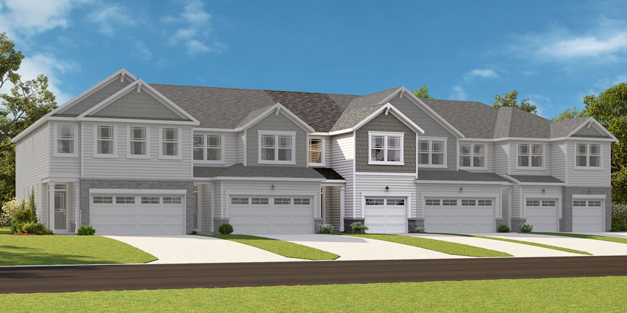 Brooke Plan TownHomes at Minglewood Townhomes in Garner North Carolina by Mattamy Homes