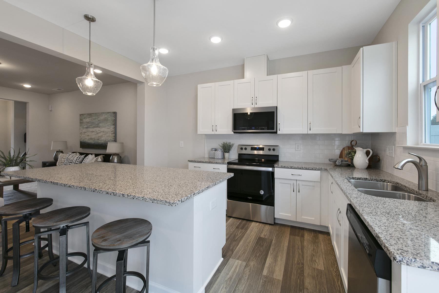 Clifton Plan Kitchen at Minglewood Townhomes in Garner North Carolina by Mattamy Homes