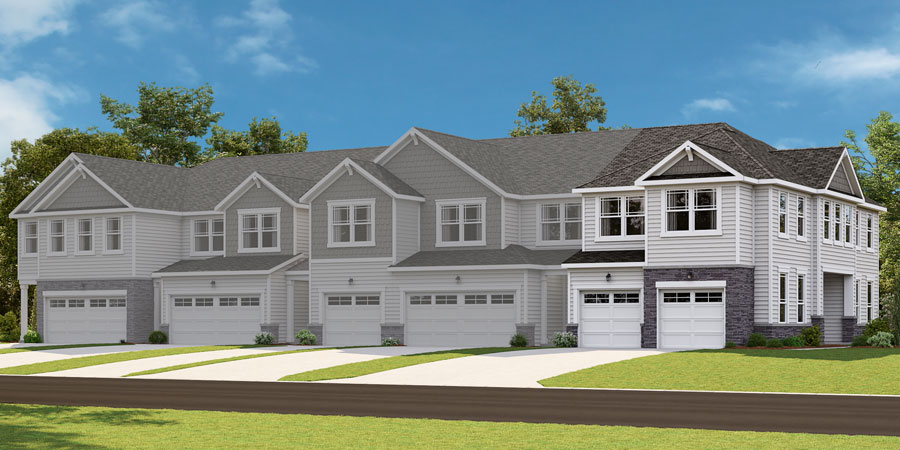 Clifton Plan TownHomes at Minglewood Townhomes in Garner North Carolina by Mattamy Homes
