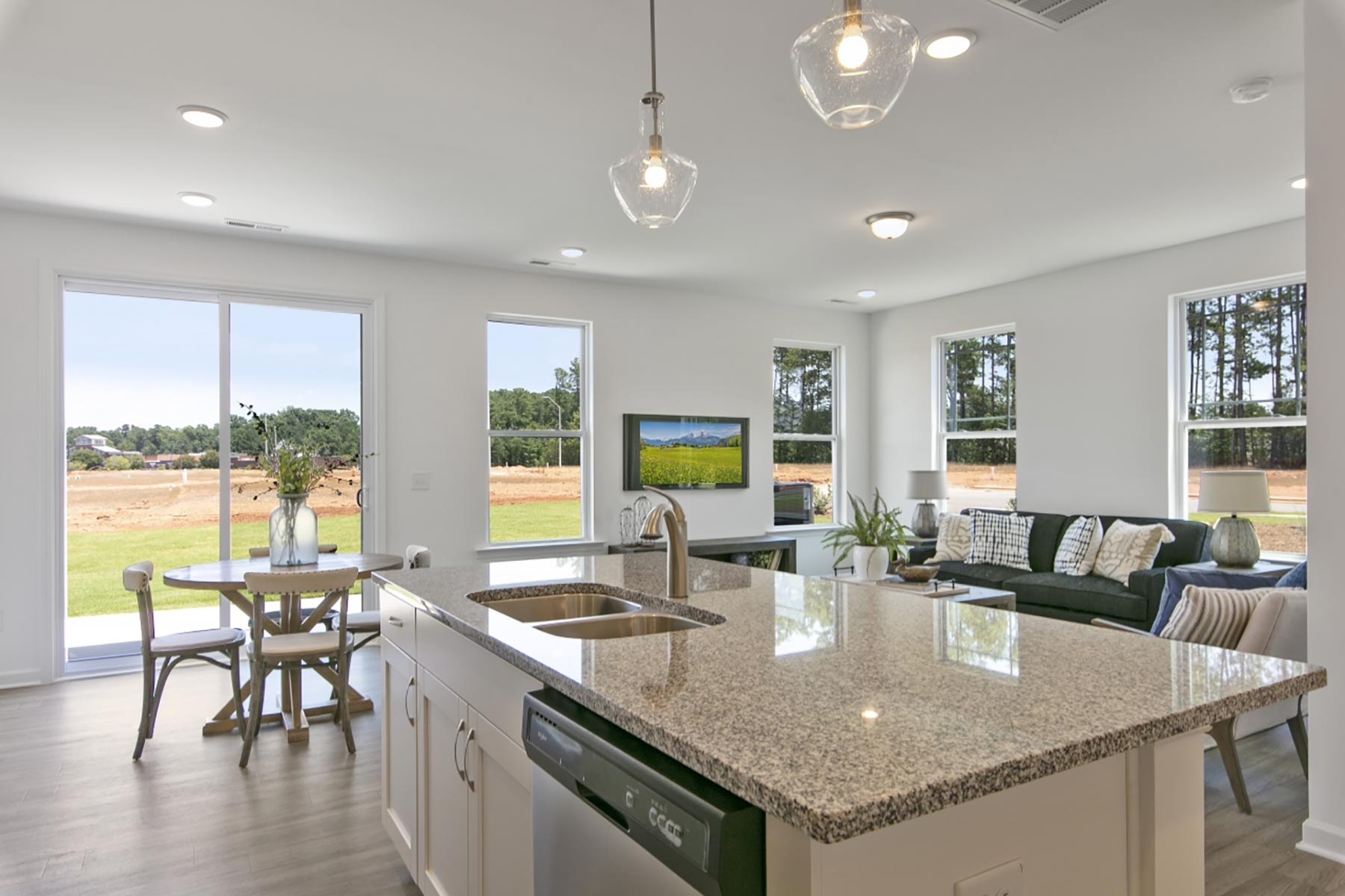 Clifton Plan Greatroom at Minglewood Townhomes in Garner North Carolina by Mattamy Homes