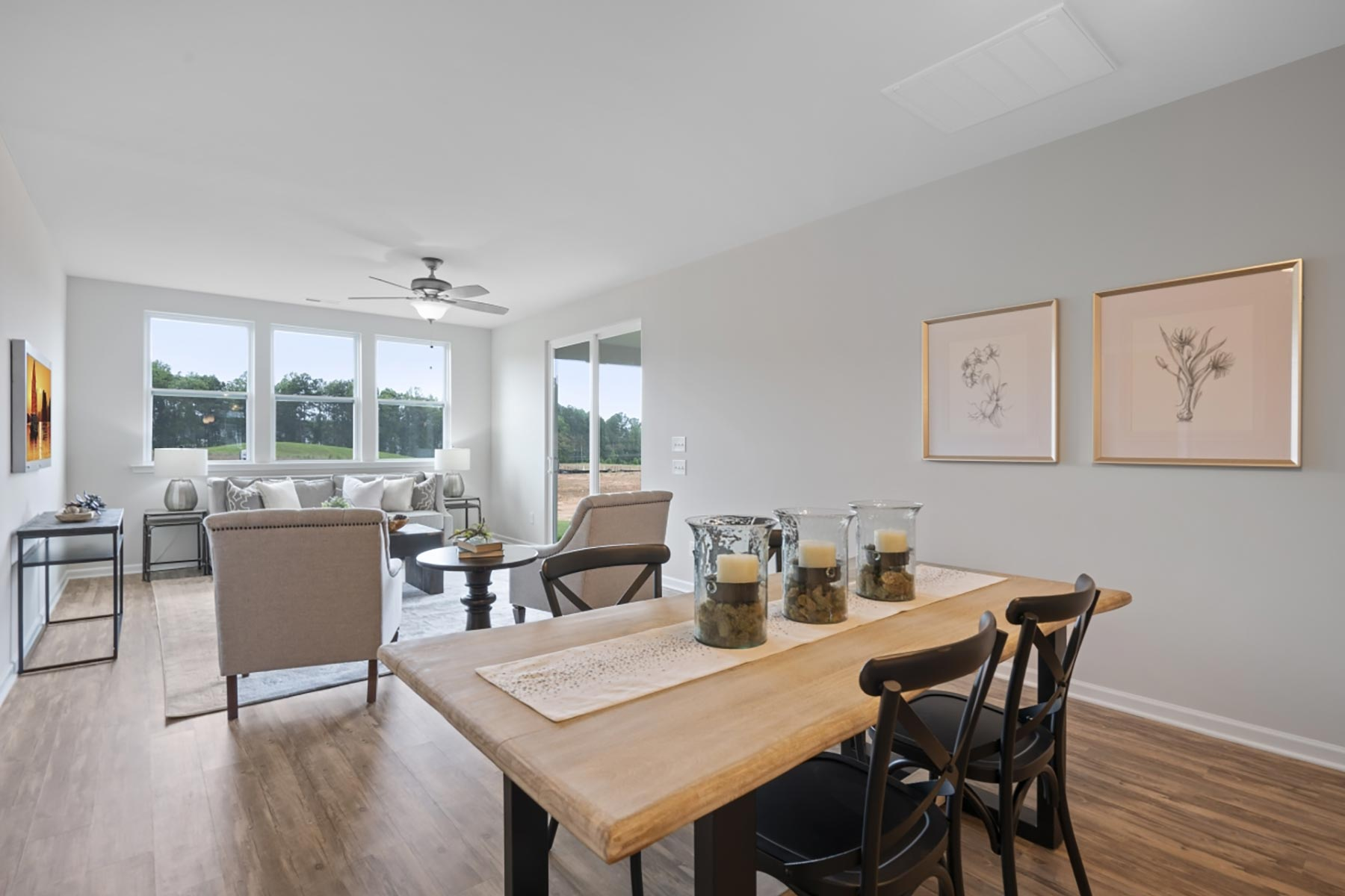 Evelyn Plan Breakfast at Wendell Falls in Wendell North Carolina by Mattamy Homes