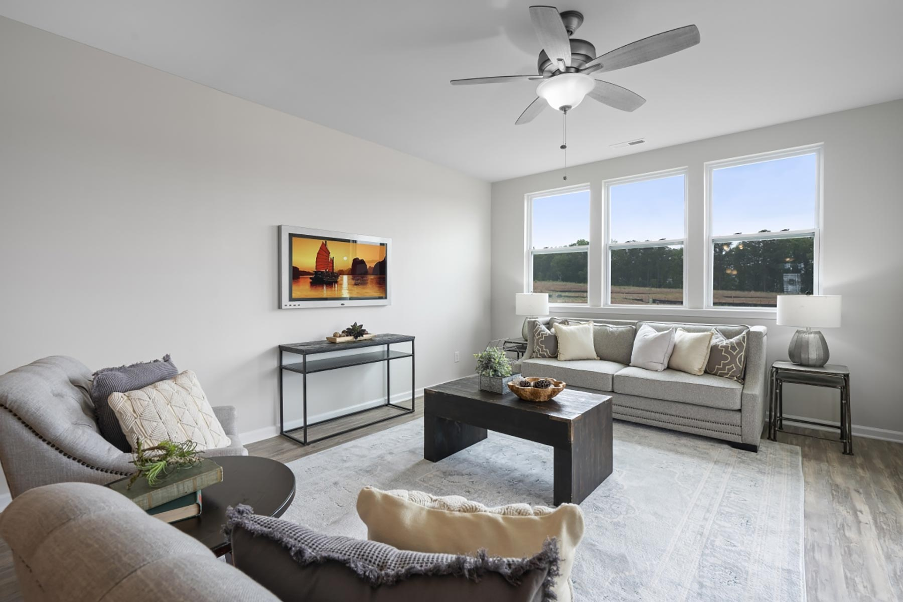 Evelyn Plan Greatroom at Bedford at Flowers Plantation in Clayton North Carolina by Mattamy Homes