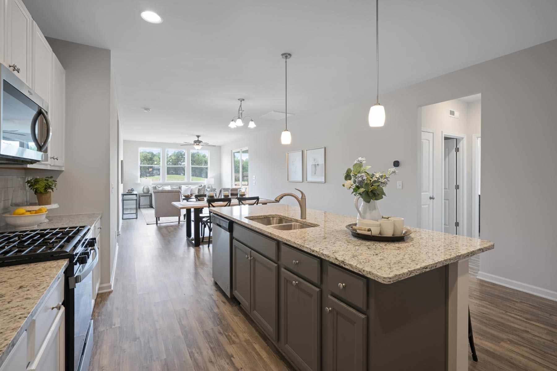 Evelyn Plan Kitchen at Bedford at Flowers Plantation in Clayton North Carolina by Mattamy Homes
