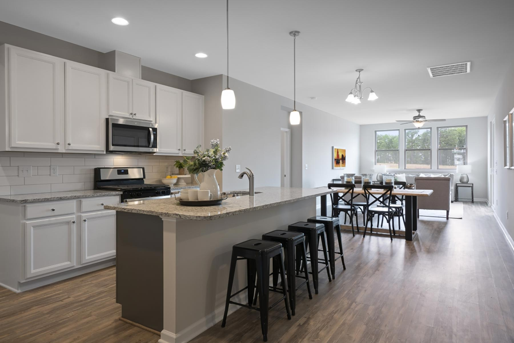 Evelyn Plan Kitchen at Wendell Falls in Wendell North Carolina by Mattamy Homes