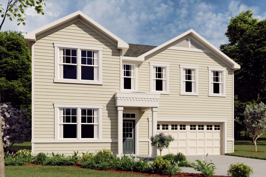 Gaines Plan Elevation Front at Oak Park in Garner North Carolina by Mattamy Homes