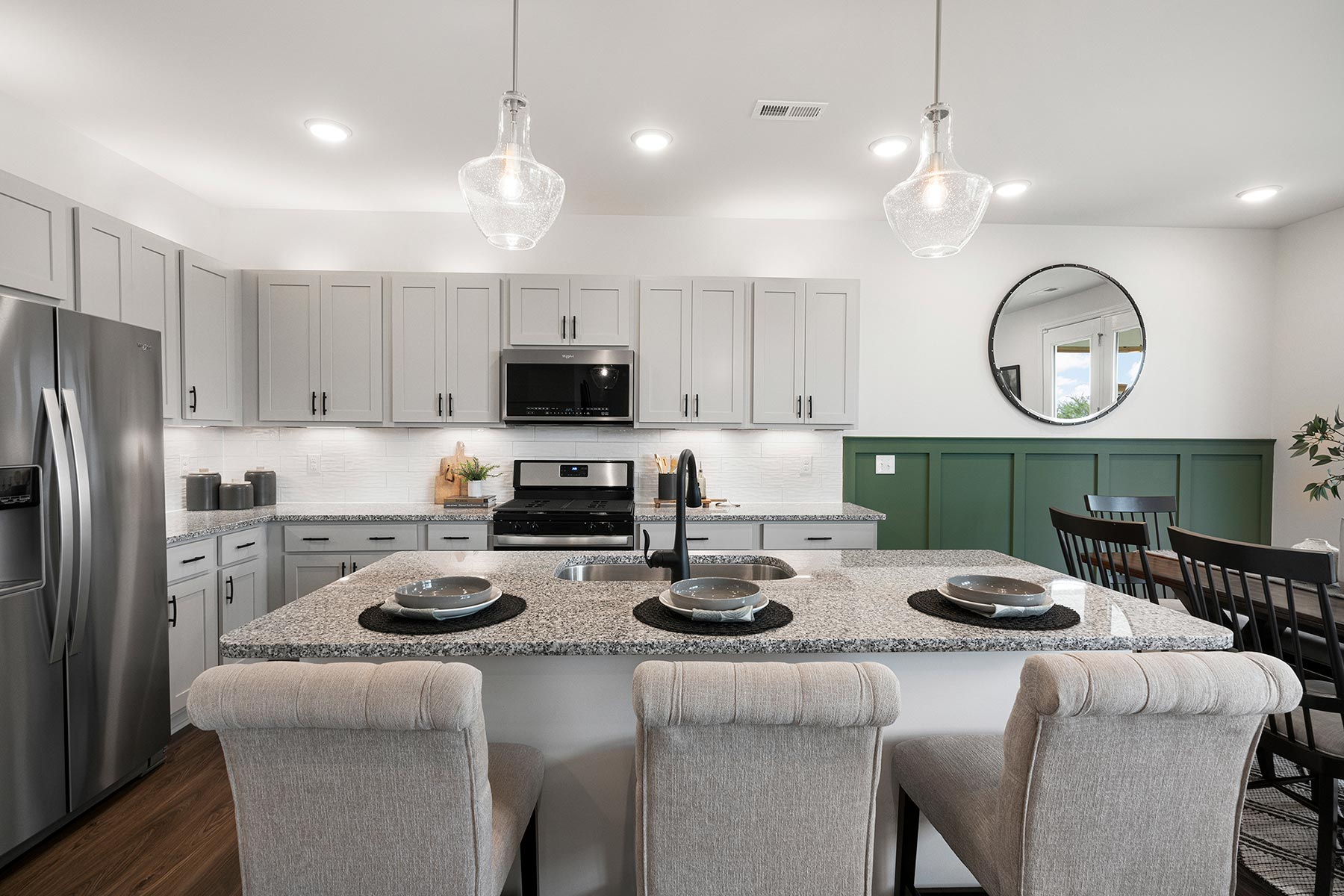 Gaines Plan Kitchen at Oak Park in Garner North Carolina by Mattamy Homes