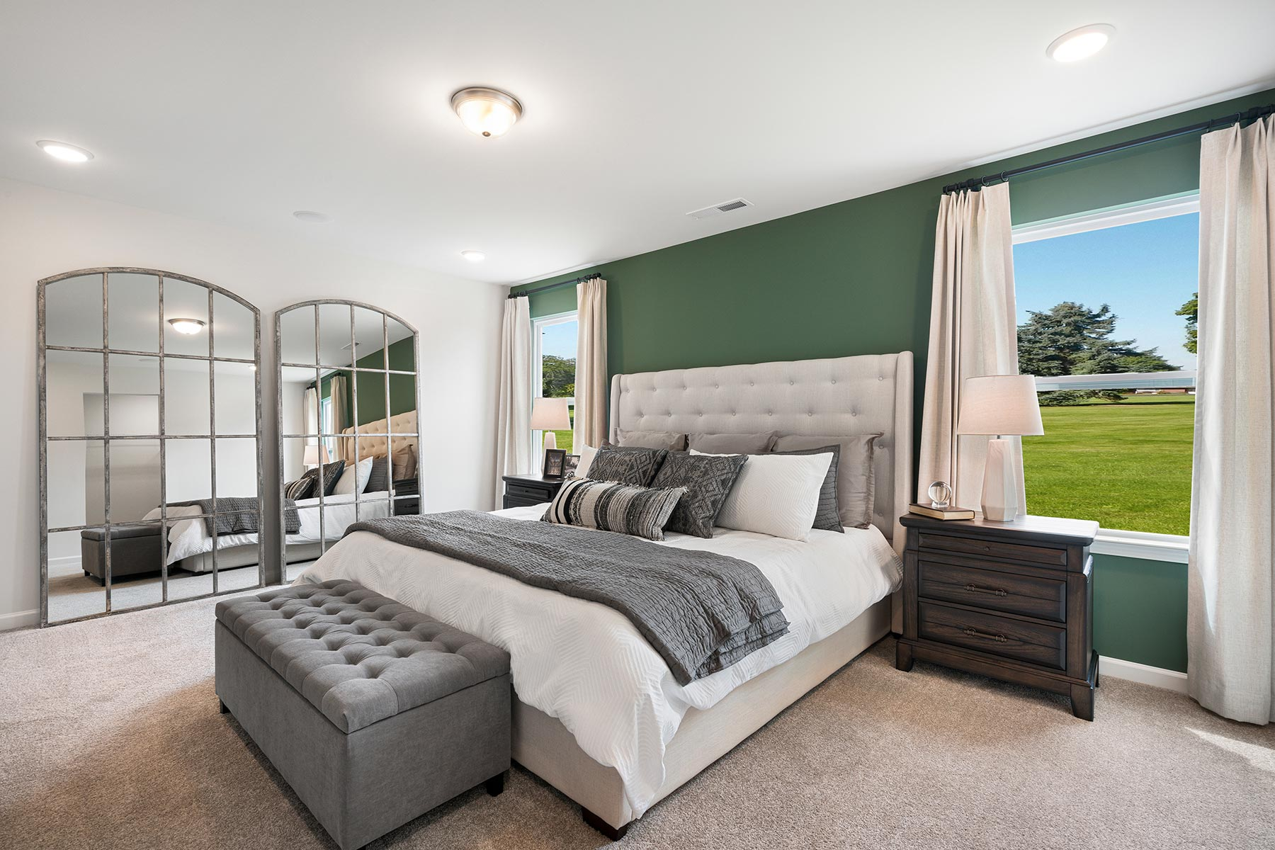 Gaines Plan Bedroom at Oak Park in Garner North Carolina by Mattamy Homes