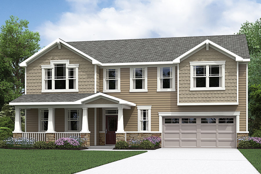 Harper Plan Elevation Front at Oak Park in Garner North Carolina by Mattamy Homes